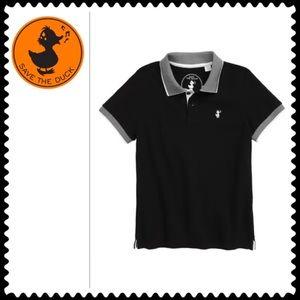 Save The Duck Boy's Black Polo Shirt